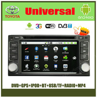 Android Toyota Universal Old RAV4 COROLLA ,VIOS Car DVD GPS with 512M RAM,FM,BT,IPOD,USB+(Optional DVB-T,3G,Wifi)