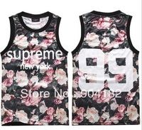 High quality summer new tide brand men retro floral sleeveless waistcoat