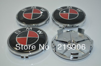 red/blackCarbon Fiber 68mm Wheel Center Hup Caps For BMW 3 5 7 X Z M Series Wheel Steering Sticker for bmw logo