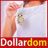 [DollarDom]  	Retro Vintage Women Owl Pendant Gothic Necklace Sweater Chain 09 Worldwide free shipping