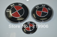 Car badge Rear Trunk Emblem For BMW 3Series 82mm red/black Carbon Fiber car type emblem and badge for bmw