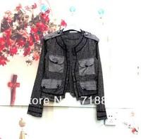 Free Shipping 20pcs Wholesale Women Vintage Jacket  Women Slim Jacket  Elegent Jacket Chea Style Jacket