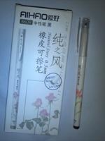 Rubber erasable pen black unisex 0.5mm pen 8609 pen