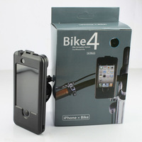 Waterproof Bike Bicycle Mount Holder Bicycle Handlebar Stand Case Bag Pouch For Apple iPhone 4 4G 4S,Free shipping