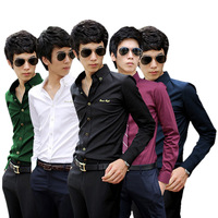 Ziozun autumn men's clothing long-sleeve shirt slim male business casual male shirt