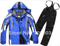 6 Color Hot Ski jackets men ski suit jacket plus dress pants warm S-XXL