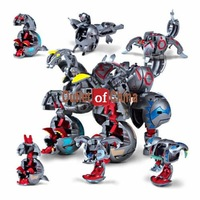 Wholesale Free shipping 12pcsxBattle 7 in box Maxus Helios figures Combined into Massive Battle Monster