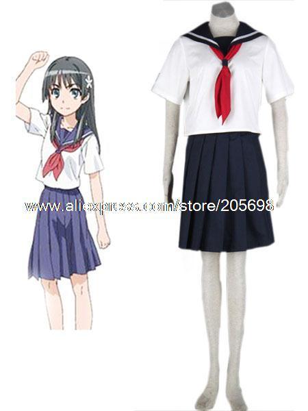 Toaru Kagaku No Railgun uniforme scolaire Style blanc marine bleu ...