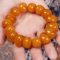 Natural chicken beeswax bracelet amber bracelet aquamarine tourmaline rosin beeswax