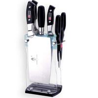 Free shipping 6pcs kitchen knife set with acrylic block