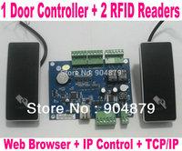 Free ship 1 Door Access Controller Board Swipe Card system Door Electric Lock RFID Door Lock system+ Wiegand26 RFID Readers 2 pc