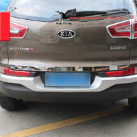 High Quality Stainless Steel Auto Car Chrome Rear Trunk Lid Cover Trim For KIA Sportage R 2010 2011 2012 2013