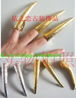 10pcs/lot Belly dance long finger sets queen long finger sets