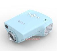 "Drop shipping Remote Portable Mini HD LED Projector 80"" Cinema Theater, PC Laptop VGA input micro toy projetor"