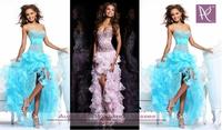 Hi-Low Blue or Pink Princess Party Bridemaid Dress Cocktail Prom Dresses