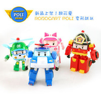 Free shipping! 4 models Cartoon Toy ROBOCAR POLI deformation robot helicopter toys best Holiday birthday gift for kids
