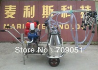 Gasoline Cow Milking Machine Double Buckets