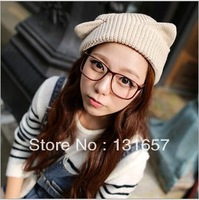 Wholesale 10pcs/lot NEW 2013 Female winter hat in the fall and winter of han edition,Cuddly cat ear hat  knitting hat.H-125