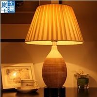 Ceramic table lamps modern minimalist garden ideas IKEA bedroom bedside lamp living room lamp lighting T033