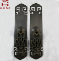 Chinese antique copper door handle straight long 16CM DG-018
