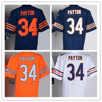 Free Shipping Cheap Authentic Elite American Football Jersey Chicago #34 Walter Payton Jersey Sport Jersey Mix Order size M-XXXL