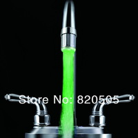 Bathroom accessories LED faucet light with temperature sensor RGB 3 ColorS Water Glow Faucets Tap for bathroom,kitchen.ECM-F1
