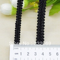 Cheap 50 yards/lot Factory DIY black white Curve lace centipede knitted webbing ribbon high quality 1.1 cm free shipping