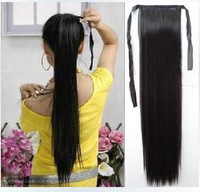 Wig wig horseshoers non-mainstream horseshoers fluffy straight hair extension piece