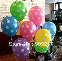 Color Dot Round Latex Balloons Wedding Party Decoration Balloon 50 pcs / lot