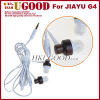 100% Original High Quality Wooden Earphone For JIAYU G4 JIAYU G4 Earphone Freeshipping!!