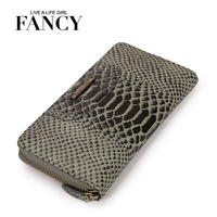 Fancy 2013 fashion vintage serpentine pattern first layer of cowhide women's long design wallet genuine leather