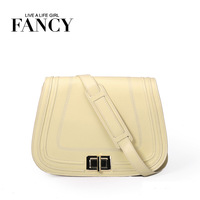 Fancy 2013 fashion brief cute sweet flip cowhide messenger bag