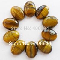 (Min.order 10$ mix) Free shipping (10piece/lot) Tiger Eye Gem Oval CAB CABOCHON(SIZE: 25x18x6MM)