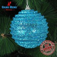 Mini mixed order $10 Christmas arrangement 8CM blue stripes upscale luxury foam ball Christmas tree ornaments 20g