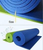 1PCS 6mm  fitness yoga mat household cushion fitness blanket equipment slip-resistant pad E615 Free shipping