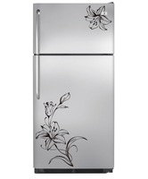Freeshipping Flower Wall Art Stickers Wall Decal Kitchen Refrigerator Flower 3d Home Decor Decoration hot sale
