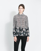 2013 autumn new Europe totem printing women's cotton shirt!