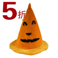 Halloween props halloween pumpkin hat pointed toe