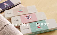 Free Shipping!New 4pc/lot Pencil box Lovely Metal case Korea Style Stationery case Square  storage Box Mixed Design Marin Design