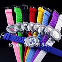 10PCs/Set Multi Colors Women Lady Quartz Crystal Jelly Design Silicone Deep Blue Wrist Watches on Discount