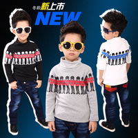 2013 Child basic turtleneck T-shirt children's clothing male winter child baby long-sleeve T-shirt