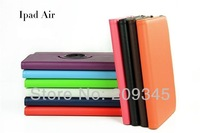 360 degree Rotating PU Leather Cover Case for ipad 5 for ipad air smart stand with magnet New arrive