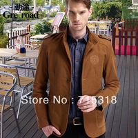 2013 TOP Grade autumn jacket men's clothing suit male casual suit slim outerwear blazer male plus size