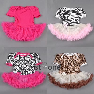 Lovely Baby Toddler Girls Ruffles Tutu skirt Romper onesie Outfit Dress 0-12M Summer Baby Shower Gift(China (Mainland))
