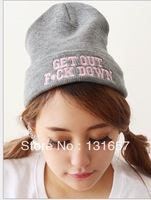 "Wholesale 20pcs/lot New 2013 Winter Fashion Beanies, ""GET OUT"" Hats, Knitting Wool Hats For Men/Women.H-128"