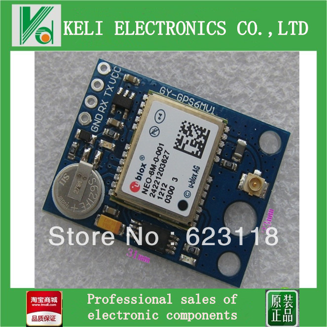 Free Shipping 5pcs/lot Ublox NEO-6M GPS Module with EEPROM for MWC/AeroQuad with Antenna for Flight Control and Aircraft FZ0040(China (Mainland))