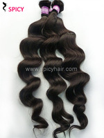 Spicy hair products:queen malaysian loose wave virgin hair extensions human hair weft ,Free Shipping 4pcs/lot