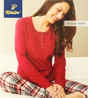 Cotton Long Sleeve Crew Neck Top and Sleep Pants Women's Pajamas Set Comfortable Loungewear/Sleepwear Set