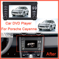 Car DVD Player GPS Navigation fit for Porsche Cayenne (2003-2010)With Bluetooth Car Audio Portable DVD Support Original AMP