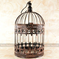 Bronze Home Decorative Birdcages Crown Metal Cage